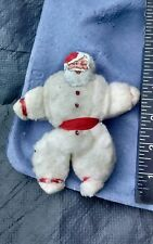 Rare VINTAGE SPUN COTTON SANTA CLAUS SCRAP FACE CHRISTMAS ORNAMENT