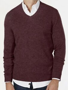 NWT  ~ CLUB ROOM  V-Neck Mens 100% Luxury CASHMERE Sweater  -  Size XL