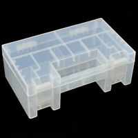 Portable Hard Clear Plastic Storage Box Holder Organiser for AA AAA Battery #HD3