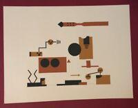 Lee Adler, Electrical Circuit II, Serigraphie, handsigniert und nummeriert 22/40