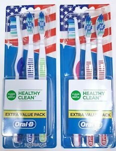 6 Oral-B Healthy Clean Toothbrushes Extra Value Pack Soft Bristles 2 Packs of 3