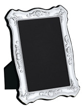 "CARRS - Sterling Silver Photo Frame Antique design Velvet Back - 6"" x 4"""