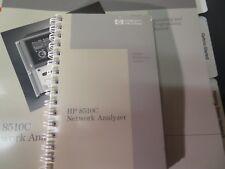Hp 8510C Network analyzer system operating & programming manual 2406 H