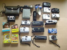 Lot of 17 Vintage CAMERAS and Flash Units Polaroid Kodak, Film & Digital, 35mm