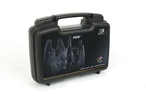 Fox NEW Micron MX 3 Rod Bite Alarm & Receiver Box Set FREE BATTERIES CEI192