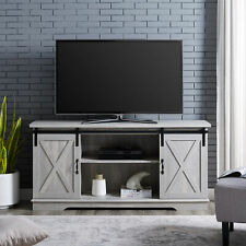 "Manor Park Modern Farmhouse Sliding Barn Door TV Stand for TV's up to 64"" - Grey"