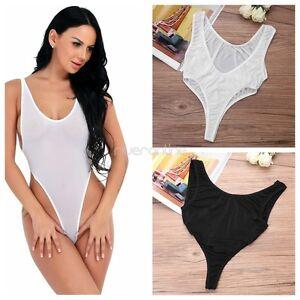 Body Femme Sexy Transparent Lingerie Dos Nu Body String Bikini Leotard Bodysuit