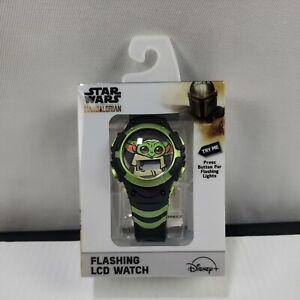 Baby Yoda The Child Star Wars Mandalorian Flashing LCD Watch