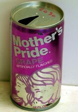 Mother's Pride Grape; Dr. Pepper Bottling Co.; Gardena, CA; steel soda pop can