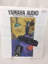 Vintage Yamaha Audio 100th Anniversary Booklet 1887-1987