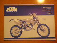 OEM 01 KTM Chassis 125 200 SX MXC EXC Spare Parts Manual