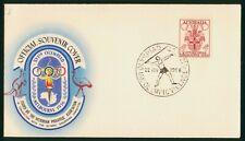 Mayfairstamps Australia 1956 Olympic Village Javelin Throw Cover wwp975