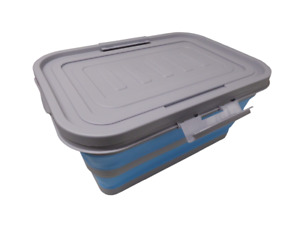 COLLAPSIBLE FOLDING XL STORAGE BOX with LID camping caravan motorhome boat
