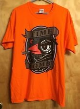 Time Bomb Crew men's East Liberty Crow Short Sleeve Orange T-Shirt PA LARGE NEW