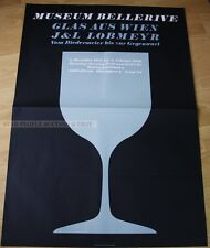 SWISS EXHIBITION XXL POSTER 1980 - GLASS FROM VIENNA - J&L LOBMEYER - BELLERIVE