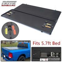 Hard Tri-Fold Tonneau Cover 5.7FT Short Bed For 2009-18 Dodge Ram 1500 Crew Cab