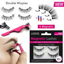 Double Wispies Magnetic Lashes - False/Fake Eyelashes Long Applicator No Glue