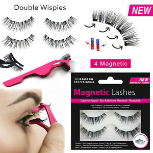 Double Wispies Magnetic Lashes - False/Fake Eyelashes Long Applicator No Glue