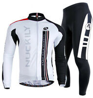 NUCKILY Mens Clothing Set MTB Bike Bicycle Cycling Long Sleeve Jersey&Pants Suit