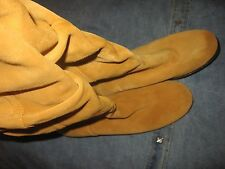 WOMENS 7 M AEROSOLES SUPERSONIC TAN SUEDE KNEE HIGH TALL RIDING SLOUCH BOOTS