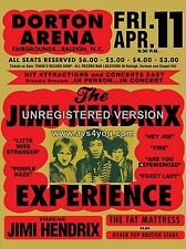 "Jimi Hendrix Dorton 1968 16"" x 12"" Photo Repro Concert Poster"