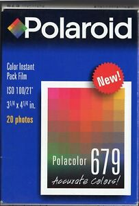 Vintage Polaroid instant Color Film 679 20 Photos  100 ISO   Very Rare!!!!  8,5