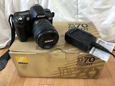 Nikon D D70 6.1MP Digital SLR Camera - Black (Kit w/ AF-S DX 18-70mm Lens)