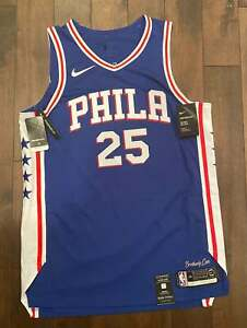 Nike NBA Philadelphia 76ers Ben Simmons Authentic Jersey Blue Size 44