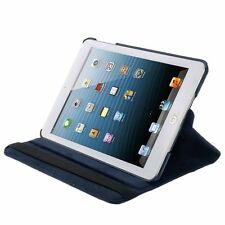 New iPad Mini 360 Rotation Dark Blue Case With Screen Protector and Pen Stylus