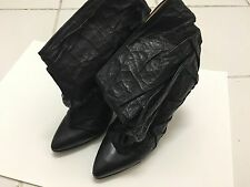 Margiela Crinkle Leather Bootie Boots