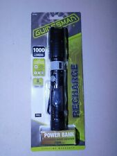 Flashlight GUIDESMAN 1000 LUMENS RECHARGEABLE 3MODES HI/MED/LOW BATTERY INCLUDED
