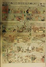 Boob McNutt Sunday by Rube Goldberg from 11/9/1930 Large Rare Full Page Size!