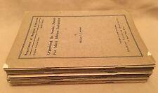 American Unitarian Assn. (19) SCARCE Bulletins - Dept. Of Religious Education