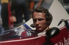 NIKI LAUDA SIGNED HUGE 12X18 INCH FORMULA 1 FERRARI WORLD CHAMPION PHOTO + *COA*