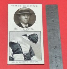 JOCKEY 1926 OGDEN'S CIGARETTES CARD TRAINERS OWNERS' COLOURS 25 J.E. WATTS