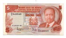 Kenya  5 scellini 1981  qFDS aUNC  pick 19b  rif 2728