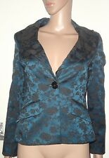 SIZE 10 JADE GREEN CHINESE STYLE BLAZER, RIVER ISLAND, NWOT, 46% COTTON