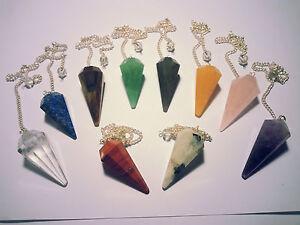 Edelstein Pendel Amethyst Bergkristall Aventurin uvm. gemme pendule ciondolo