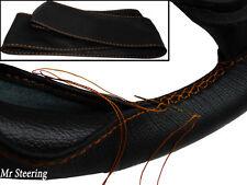 Accoppiamenti JEEP GRAND CHEROKEE MK3 WH neri in pelle Volante Copertura cuciture color arancio