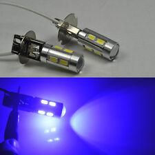 2x Bright Blue H3 XENON 12W LENS HIGH POWER CREE LED Car Fog Bulbs For VW