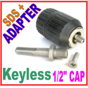 """1 pc SDS plus Adapter and 1/2"""" CAP Drill Keyless Chuck S"""