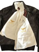 US Army Air Corps Embroidered Pilots Silk blend Flying Scarf - REPRO Uniform