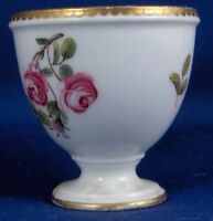 Rare 18thC Sevres Porcelain Floral Softpaste Egg Cup Porzellan Eierbecher Eggcup