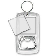 Bottle Opener Blank Photo Key Chain Clear Acrylic Case #BOA-Blank#