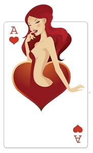Hearts 'Babe' Playing Card Cardboard Cutout 160cm Tall-Great for Casino Parties