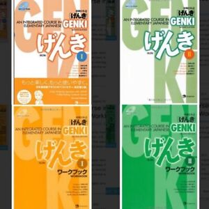 Genki : An Integrated Course in Elementary Japanese Part1 + Part2 + 2 workbooks