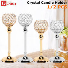 2PCS ELEGANT Crystal Candle Holder Wedding Party Table Tealight Candlestick Gift