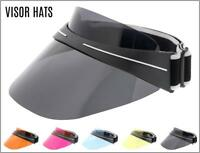 OVERSIZED Visor Hats Cap Face Shields Designer Style SUN GLASSES SHADES 5 Colors