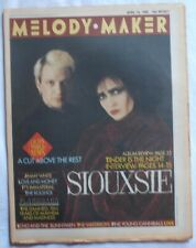 MELODY MAKER MAGAZINE 19 APRIL 1986 - SIOUXSIE ECHO AND THE BUNNYMEN