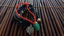 Empowering Jewelry Set 3 Bracelets Black Mala Bead Tree of Life Red Surfer Boho
